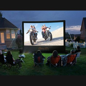 """Open Air Home 20' x 11' Inflatable Indoor, Outdoor 274"""" Movie Screen 16x9 H-20"""