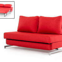 Divani Casa Sepulveda Modern Red Fabric Sofa Bed