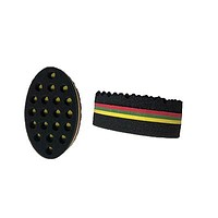Double Sided Wave Barber Hair Brush Sponge | Personal care