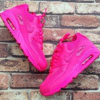 Nike Air Max 90 Women Sport Casual Solid Color Air Cushion Sneakers Running Shoes