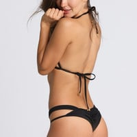 Anatomic Tie Brazilian Bottom in Black