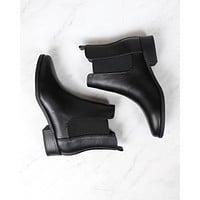 Amber Ankle Chelsea Bootie Low Heel in Black