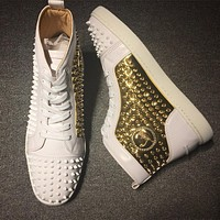 Christian Louboutin CL Louis Spikes Style #1834 Sneakers Fashion Shoes Online