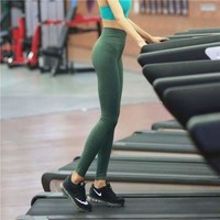 Lululemon Trending Women Casual Gym Yoga Exercise Fitness Leggings Sweatpants Pants Green I