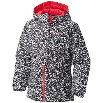 Girls Columbia Ready Set Snow Hooded Insulated Thermal Coil Winter Jacket