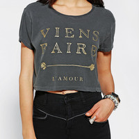 Truly Madly Deeply Paris Cropped Tee