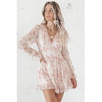Sunday Best Blush Ruffled Mini Dress