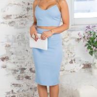 Taken Hold Two Piece Set in Ice Blue