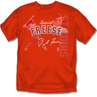 St. Louis Cardinals MLB David Freese #23 Players Stitch Boys Tee (X Large)