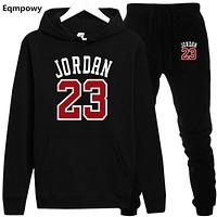 New 2018 Brand New Fashion JORDAN 23 Men Sportswear Print Men Hoodies Pullover Hip Hop Mens tracksuit Sweatshirts Clothing