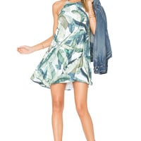 Show Me Your Mumu Katy Halter Dress in Banana Leaf | REVOLVE