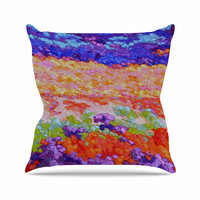 "Jeff Ferst ""Earthly Delights"" Floral Abstract Throw Pillow"