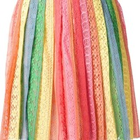 Valentino Striped Broderie Anglaise Skirt - The Webster - Farfetch.com