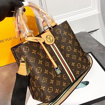 Hipgirls Louis vuitton LV Fashion new monogram leather shopping leisure shoulder bag crossbody bag handbag