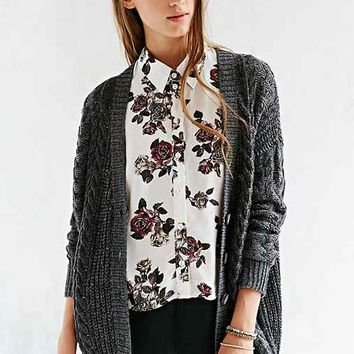 Pins And Needles Printed Floral Blouse- Cream