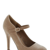 ModCloth Videoconference Confidence Heels in Taupe