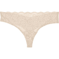 Commando - Paneled stretch-lace thong