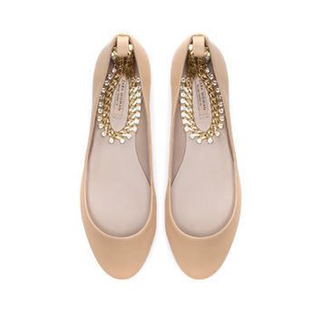 BALLERINA WITH ANKLE STRAP - Flats - Shoes - Woman - ZARA United States