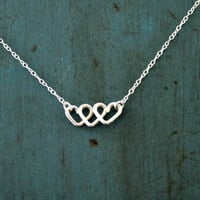 Infinite Love Infinity Necklace Sterling Silver Minimalist Jewelry Heart Necklace Best Friends Gift Mothers gift