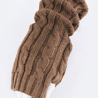 warmers-Fingerless gloves cable knit crochet SALE!! JUST REDUCED!