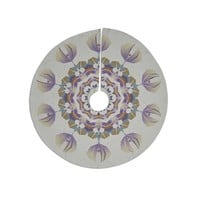 """Angelo Carantola """"Reach Out"""" Beige Lavender Tree Skirt"""