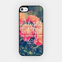 for iPhone 6/6S Plus - High Quality TPU Plastic Case - Delight Yourself In The Lord - Psalm 37:4 - Bible Verse - Motivational Quote