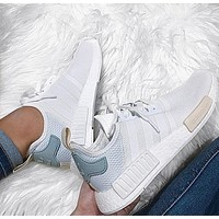 Adidas NMD Trending Fashion Casual Sports Shoes white Mint green-1