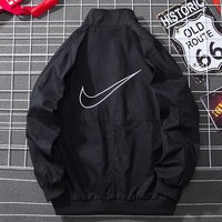 NIKE Tide brand men and women sports casual loose wild button coat jacket Black