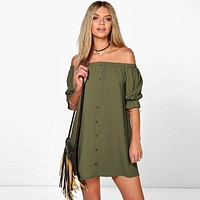 Boho Style Off Shoulder Dress