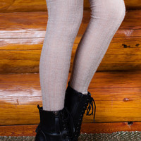 Made It Over The Knee Socks - Grey