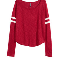 Short Jersey Top - from H&M