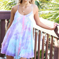 Islander Pink Combo Tie Dye Razor Back Dress