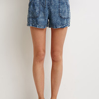 Life in Progress Mineral Wash Chambray Shorts