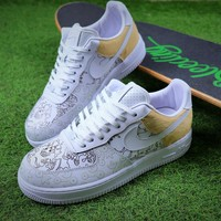 2018 Nike Air Force 1 Low Premium 100th White Sport Shoes Sneaker - Sale-1