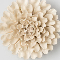 White Ceramic Wall Decor Flower
