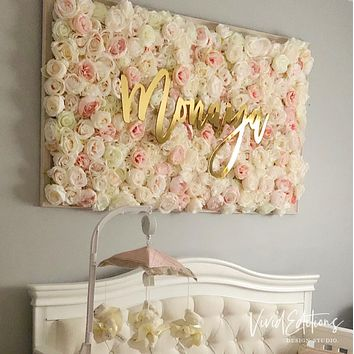 "30"" Gold Mirror Large Personalized Name Sign"