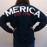 MERICA Spirit Football Jersey (Deep Indigo)