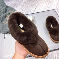 UGG fashion hot seller of women's casual uggs, sheep's fur all-in-one low-top ankle boots Shoes #6