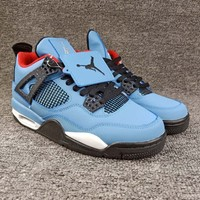 "Women's and Men's NIKE Air Jordan 4 NRG ""Raptors""  Retro Royalty 005"