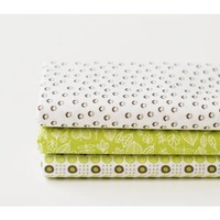 Dailylike quarter pack of 3 cotton fabric - seed