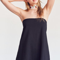 Silence + Noise Two-Layer Ponte Strapless Romper | Urban Outfitters