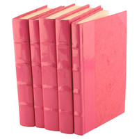 One Kings Lane - Restyle Your Surfaces - S/5 Patent Leather Books, Pink