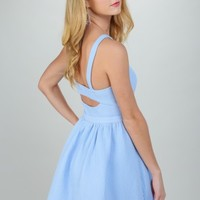Under The Boardwalk Dress-Periwinkle