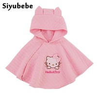 2016 Fashion Minnie Hello Kitty Kids Baby Girl Clothes Thick Cotton Cloak Coat Toddler Girls Clothing Cape For Winter Outerwear