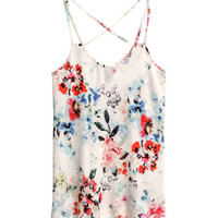 Patterned Tank Top - from H&M