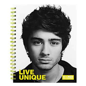 One Direction Limited Edition 1D OD Together Spiral Notebook Zayn Unique Neon Yellow by Office Depot