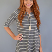 Campus Cute Striped Dress