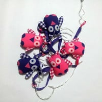Owl fairy lights - Pink and purple room theme - Ideal gift for owl lovers, girls, baby shower, christening