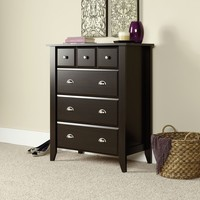 Brown Wood Chest Dresser With Extra Deep Drawers