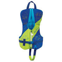 Full Throttle Rapid-Dry Flex-Back Life Vest - Infant to 30lbs - Green